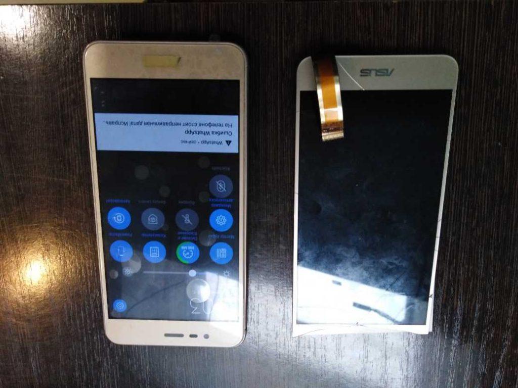 замена дисплейного модуля и задней крышки телефона asus (3)